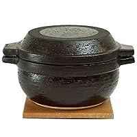 長谷制陶(Nagatani Seitou)土鍋 黑色 3000毫升 長谷園 男廚 土鍋 NNC-94