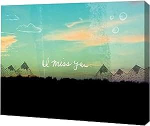 "PrintArt GW-POD-48-LS1032-40x32 I Miss You 30"" x 24"" GW-POD-48-LS1032-30x24"
