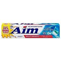 AIM ***炫 cavity 保护凝胶牙膏 ULTRA 薄荷绿155.9?gram 12片装