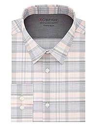 Calvin Klein 男式熱彈力超修身印花襯衫