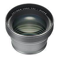 Fujifilm Fujinon Tele 转换镜头适用于 X100 系列相机,银色 (TCL-X100 S II)
