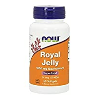 NOW Foods Royal Jelly 1000mg, 60 Capsules (Pack of 2)