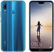 華為 P20 Lite 64GB 單卡 (GSM,無 CDMA) 工廠解鎖 4G/LTE 智能手機(Klein 藍色)- 國際版