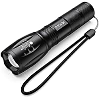 LED Tactical Flashlight S1000 - High Lumen, 5 Modes, Zoomable, Water Resistant, Handheld Light - Best Camping/Outdoor/Hiking/Everyday Flashlights/Gift-Giving/Emergency(Batteries Not Included)