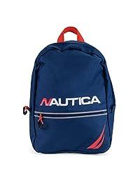 Nautica Little Tonal Zip Mini Backpack for Kids, Blue, One Size