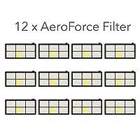 IRICO iRobot Roomba AeroForce 过滤器 800 900 系列   12 个 AeroForce *过滤器,适用于 iRobot Roomba 980 960 890 880 870 860 850 805   真空清洁器配件