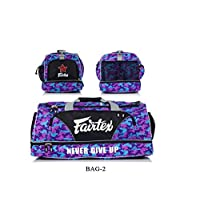 Fairtex 健身包袋-2 紫色迷彩装备设备泰拳跆拳道MMA K1
