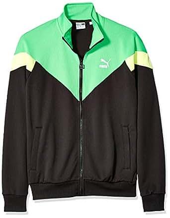 PUMA 男士标志性 MCS 运动夹克网眼 Puma Black-green Medium