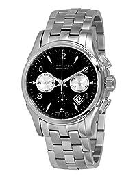 Hamilton 汉米尔顿 男士h32656133 Jazzmaster爵士系列黑色计时表盘手表