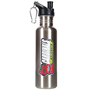 ST. LOUIS CARDINALS MLB 26OZ STAINLESS STEEL WATER BOTTLE WITH POP-UP SPOUT St. Louis Cardinals 26-Ounce