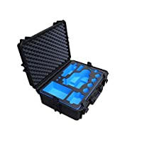 专业户外行李箱适用于索尼 PXW-X70,PXW-Z90 或 HRX-NX80 摄像机,4 电池和许多配件 | 防水运输箱 IP67