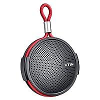 Vtin 防水淋浴扬声器带 IPX5 防水吸盘。 蓝牙淋浴扬声器,带蓝牙 4.2 和高清声音。 Support TF 卡,内置麦克风。 适合家居/户外/海滩/旅游 灰色