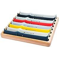 存儲蘋果手表表帶托盤支架帶顯示收納盒 iWatch 公文包盒底座 木制.
