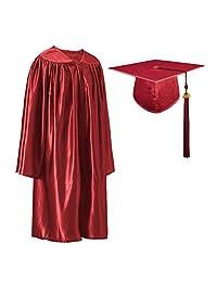 """GraduatePro 闪亮幼儿园预科毕业帽和礼服流苏套装带 2020 年魅力  栗色 Size 27(Fit height:3'6""""-3'8"""")"""