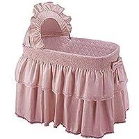 "Babykidsbargains Paradise Rainbow Bassinet Skirt and Hood, Pink, 16""x32"""