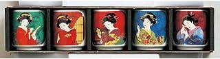 日本土产 大理石茶花美人迷你茶杯套装 [43 x 45mm] 浅草 伴手礼 日本土产 业务用
