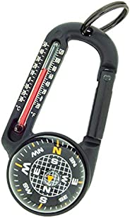 Sun Company TempaComp - Ball Compass and Thermometer Carabiner | Hiking, Backpacking, and Camping Accessory |
