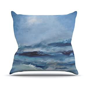 Kess InHouse Iris Lehnhardt 粗糙海洋室内/室外抱枕 20 in. 蓝色 IL2022AOP04