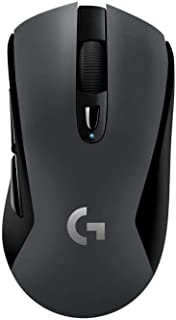 Logitech 罗技 G603 光速无线游戏鼠标,HERO传感器,12000 DPI,轻型,6个可编程按钮,500小时电池寿命,板载内存,PC / Mac——黑色(德国包装)