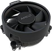 AMD Wraith Stealth Socket AM4 4 4 针连接器 CPU 冷却器带铝制散热器和 3.93 英寸风扇(超薄)