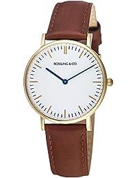 Rossling & Co. 石英男女适用手表 Classic 36mm - Westhill - RO-005-003 (亚马逊进口直采, 加拿大品牌)