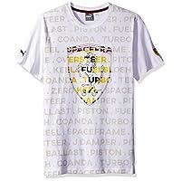 PUMA 男式童子军法拉利大盾队 T 恤 Soft Pink Puma White Medium