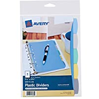 Avery Plastic Durable Write-On Dividers, 5.5 x 8.5 Inches
