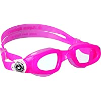 Aqua Sphere Moby 儿童游泳护目镜 - 透明,适合游泳和水上运动 Clear Lens/Pink/White 均码