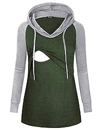 Quinee 女式插肩袖哺乳连帽运动衫