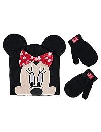Disney 女童米妮老鼠无檐帽和手套套装,多色,适合 2-4 岁儿童
