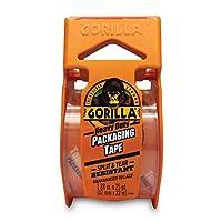 Gorilla 重型包装胶带,带分配器,用于移动、运输和储存,1.88 英寸 x 25 码,透明 4 Pack