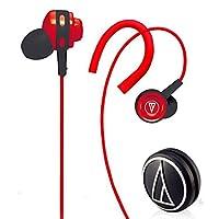 Audio-Technica 铁三角 ATH-COR150 RD 耳挂式/耳塞式两种佩戴方式随心换 个性导线收藏滚轮 红色