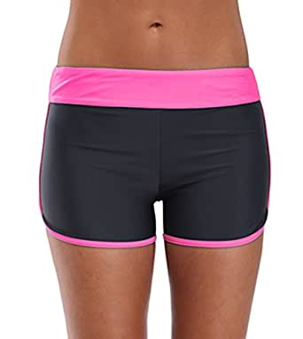 belamo 女式泳装短裤沙滩泳裤平角裤 黑色 中 43237-114656