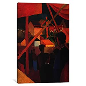 iCanvasART 8018-1PC3-40x26 Tightrope Walker Canvas Print by August Macke, 0.75 x 26 x 40-Inch