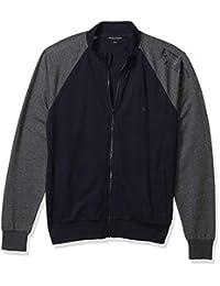 Emporio Armani 安普里奥·阿玛尼男式基本款法兰绒拉链毛衣