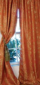 Manor Luxe Sheridan Rod Pocket Curtain Panel, 48 by 84-Inch, Pomo