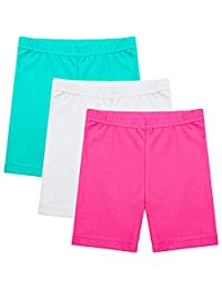 Ruisita 3 件装女孩舞蹈短裤自行车短裤长裤透气和*