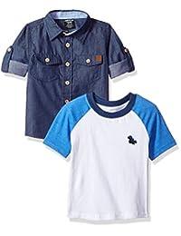 American Hawk 男童长袖针织衬衫和 T 恤套装(更多款式)