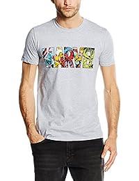 漫威男式漫画 strip 标志短袖 t 恤