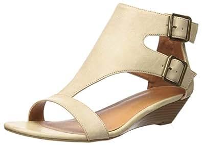 Sugar 女士 Demi 坡跟 T 型露趾带扣凉鞋 All Over Natural 8.5