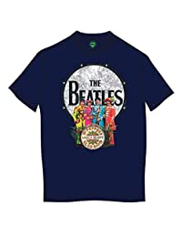 The Beatles 男式 SGT Pepper and Drum 短袖 T 恤
