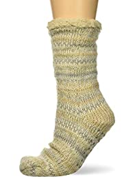 Dearfoams 女式时尚 Fairisle Blizzard 袜子拖鞋