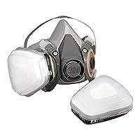 3M 可重复使用口罩 半覆盖面罩6200M(面罩主体不带过滤阀)M码 呼吸保护 1件