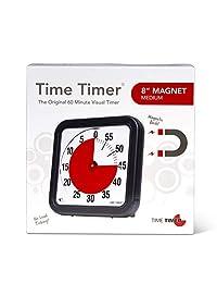 Time Timer Original MAGNETIC 60 分钟视觉计时器 - 课堂或会议倒计时时钟,适合儿童和成人 TTA1-MAG-W 1