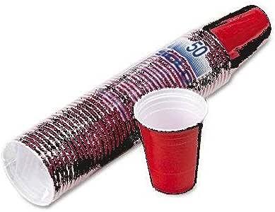 派对杯,塑料建筑,适用于冷饮机,4盎司容量,红色,50/ 包 slops16r 红色