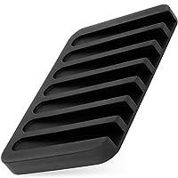 Anwenk 肥皂盒储物架排水器淋浴瀑布浴室/厨房/计数器顶部,保持杆干燥,易于清洁 柔性硅胶,白色,3件装 Black-1p 1Pack Black Soap Dish