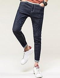 Hooper Homme 新款男士牛仔裤修身小脚裤破洞韩版青年弹力牛仔裤男裤子 休闲裤牛仔长裤