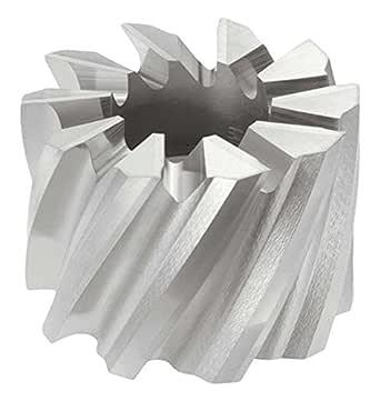 KEO Milling 19573 右手切割 T15 Supreme Shell End Mill,SMT15 Style,3.18 厘米宽,1.27 厘米轴孔,8 齿,3.81 厘米切割直径,HSCO,TiCN 涂层