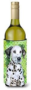Caroline's Treasures BB9882LITERK Dalmatian Puppy St Patrick's Decorative Bottle Hugger,750ml,多色