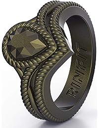 Rinfit 硅胶婚戒 女式 2 件套设计柔软硅胶橡胶带美国设计*申请中尺码 4-10